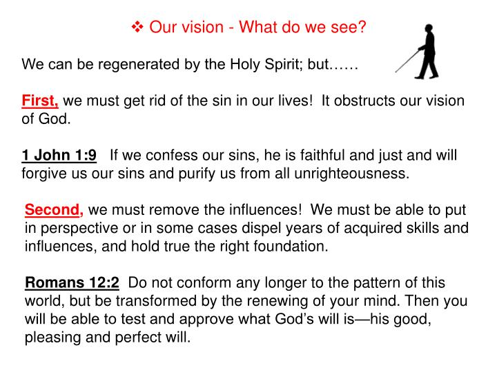 Our vision - What do we see?
