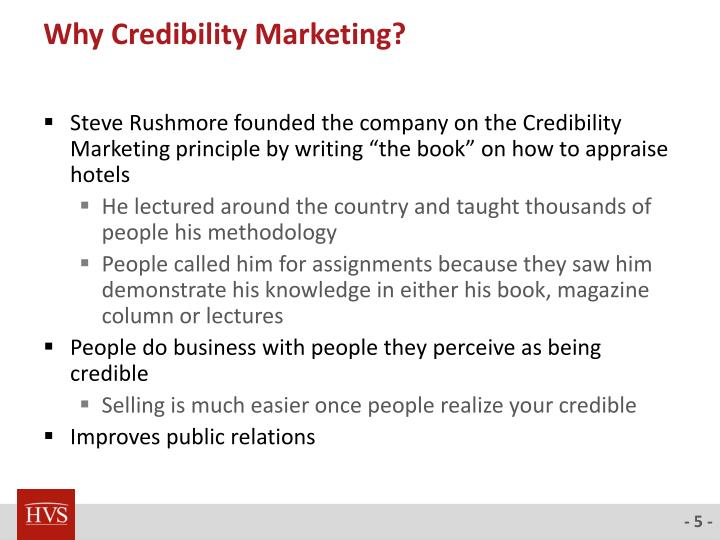 Why Credibility Marketing?