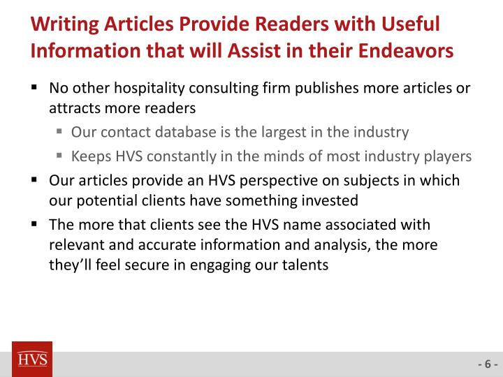 Writing Articles Provide Readers with Useful Information that will Assist in their Endeavors