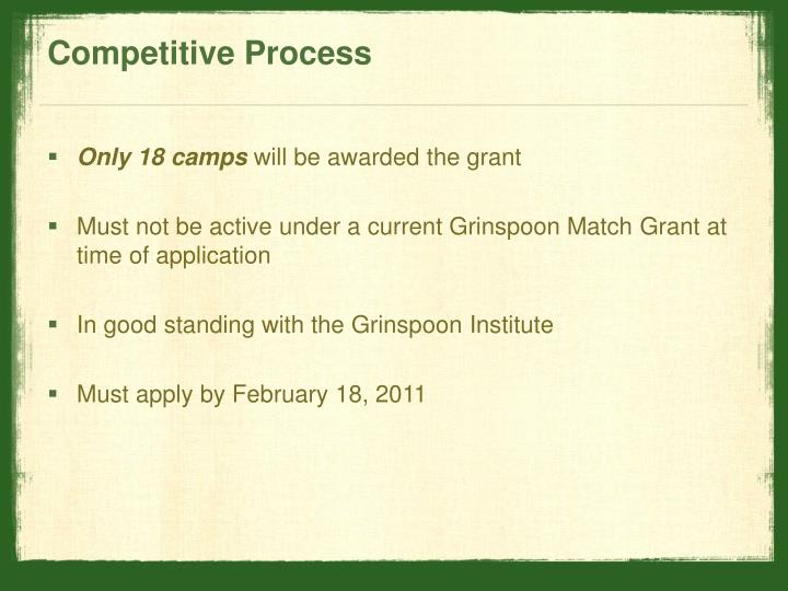 Competitive Process