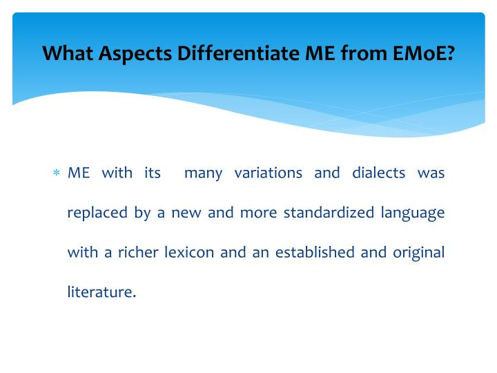 What Aspects Differentiate ME from EMoE?