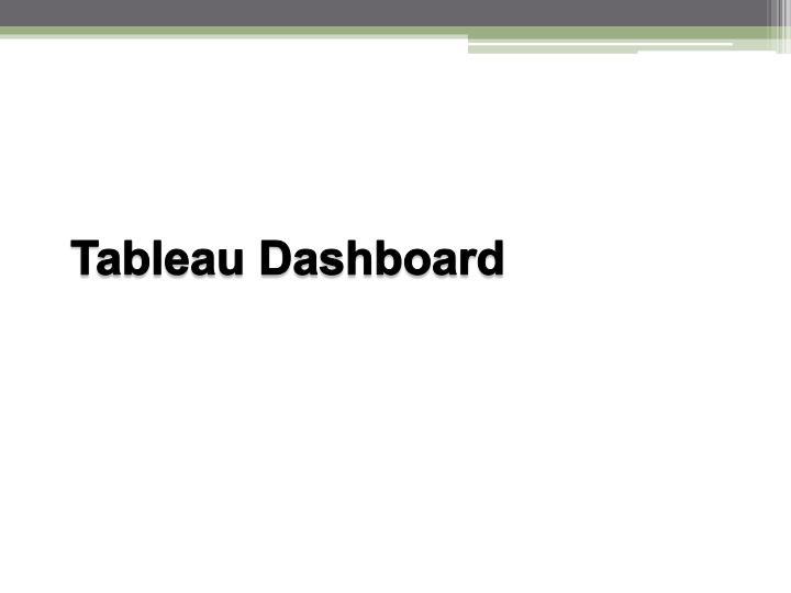 Tableau Dashboard