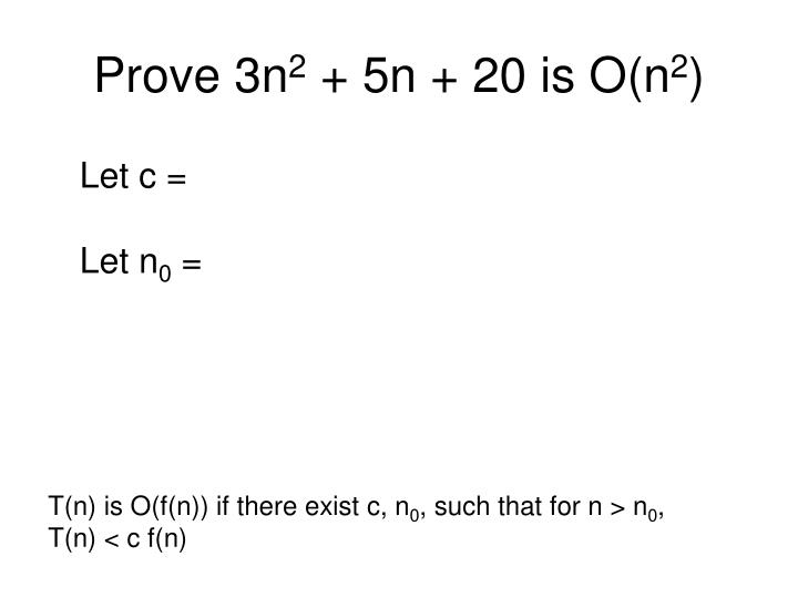 Prove 3n