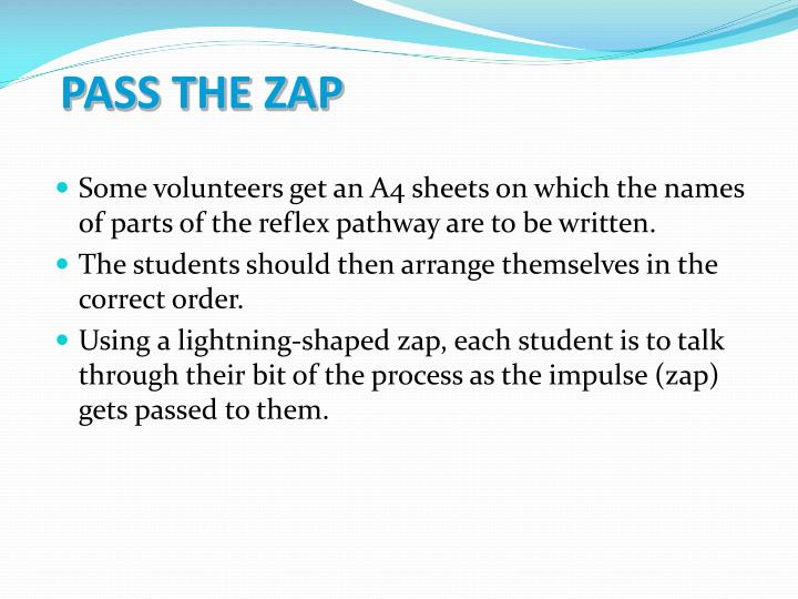 PASS THE ZAP