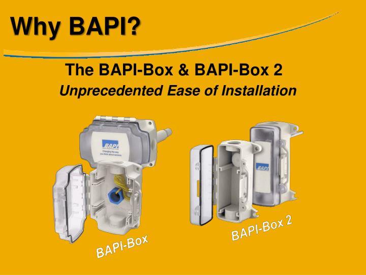 Why BAPI?