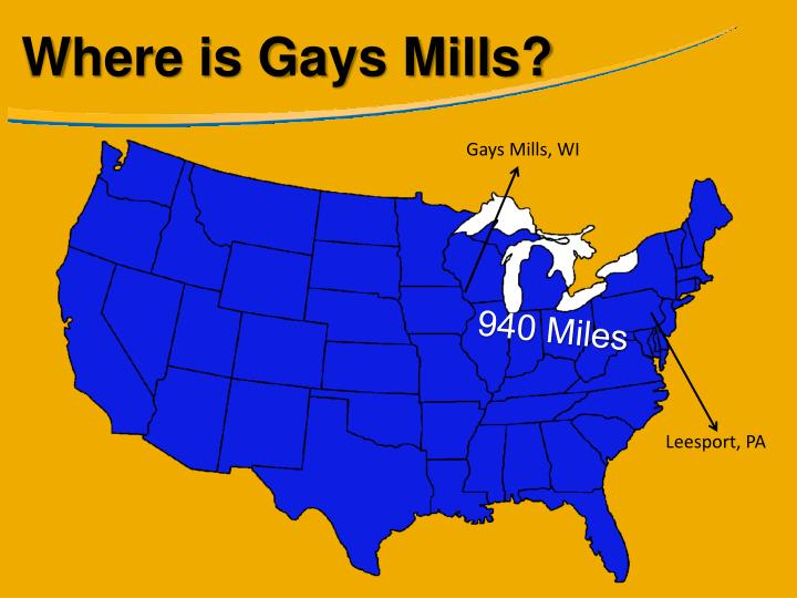 Where is Gays Mills?