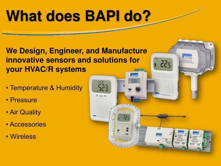 What does BAPI do?