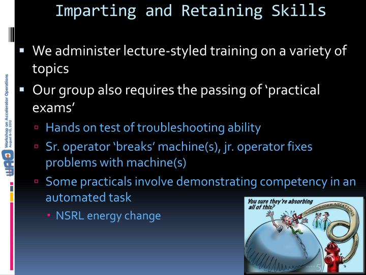 Imparting and Retaining Skil