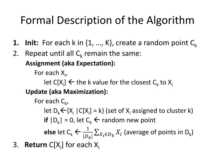 Formal Description of the Algorithm