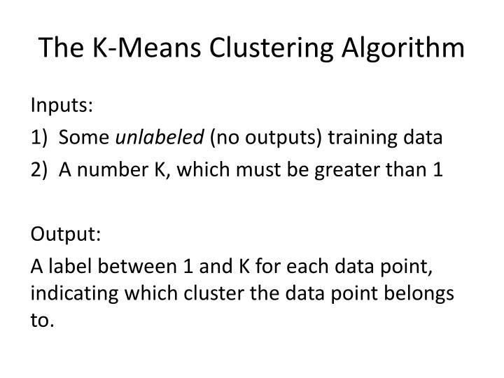 The K-Means Clustering Algorithm
