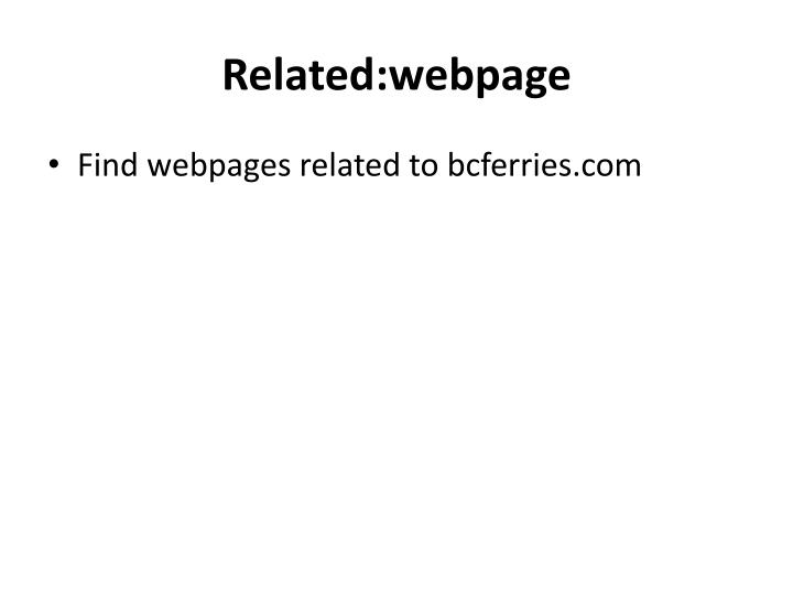 Related:webpage