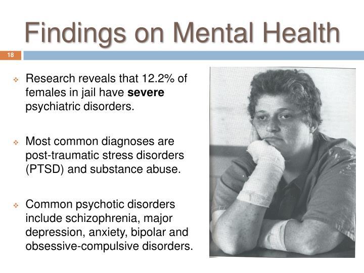 Findings on Mental Health