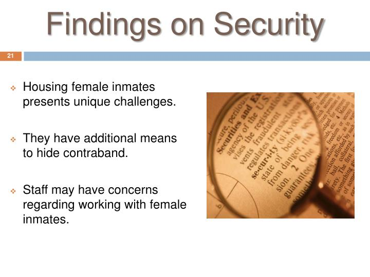 Findings on Security