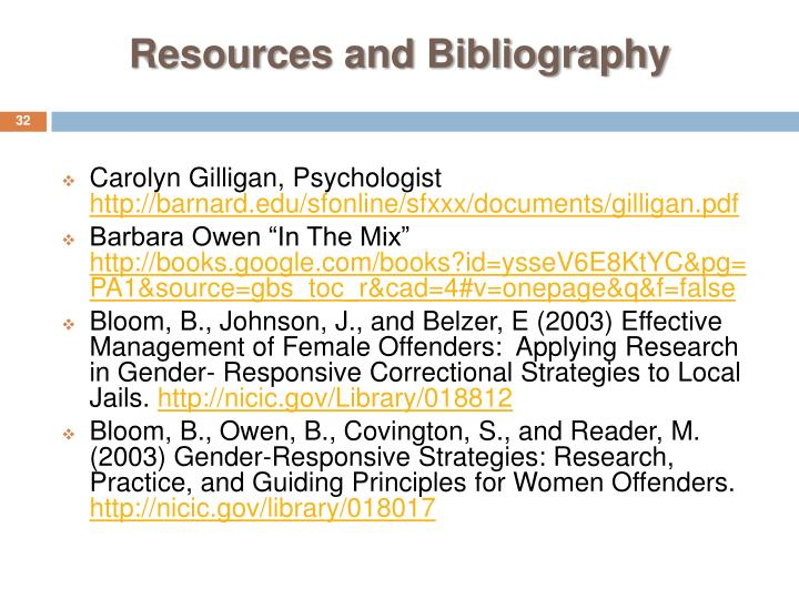 Resources and Bibliography