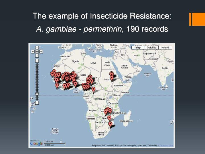 The example of Insecticide Resistance:
