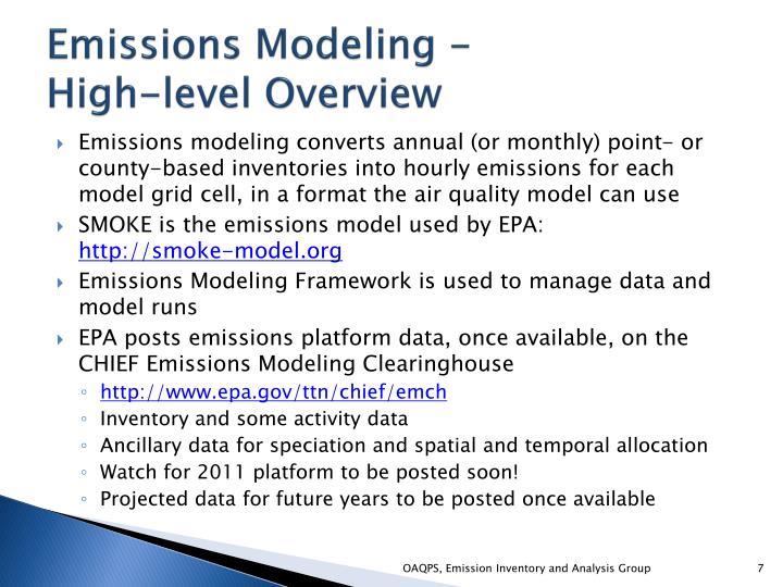 Emissions Modeling -