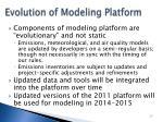 evolution of modeling platform