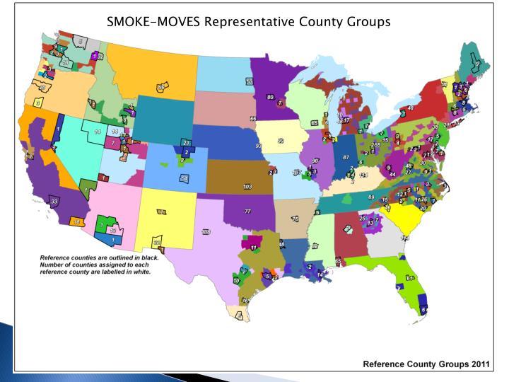 SMOKE-MOVES Representative County Groups