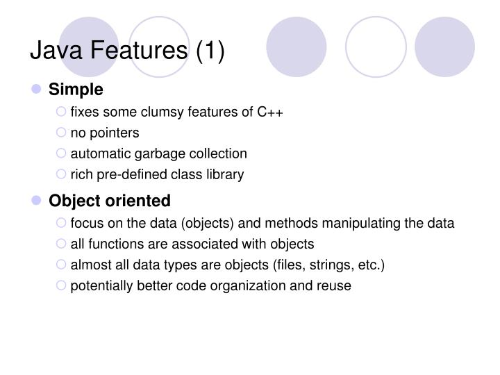 Java Features (1)