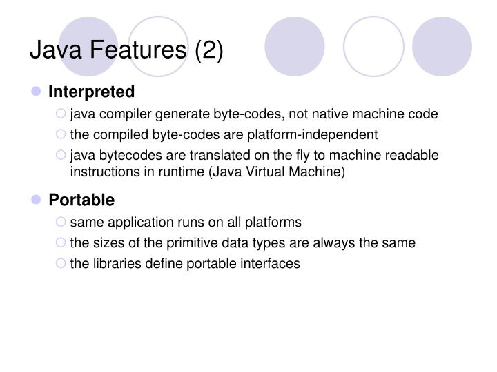 Java Features (2)