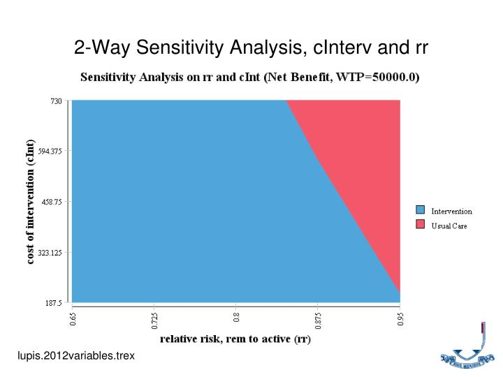 2-Way Sensitivity Analysis, cInterv and rr