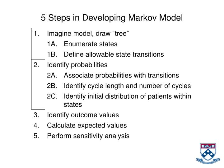 5 Steps in Developing Markov Model
