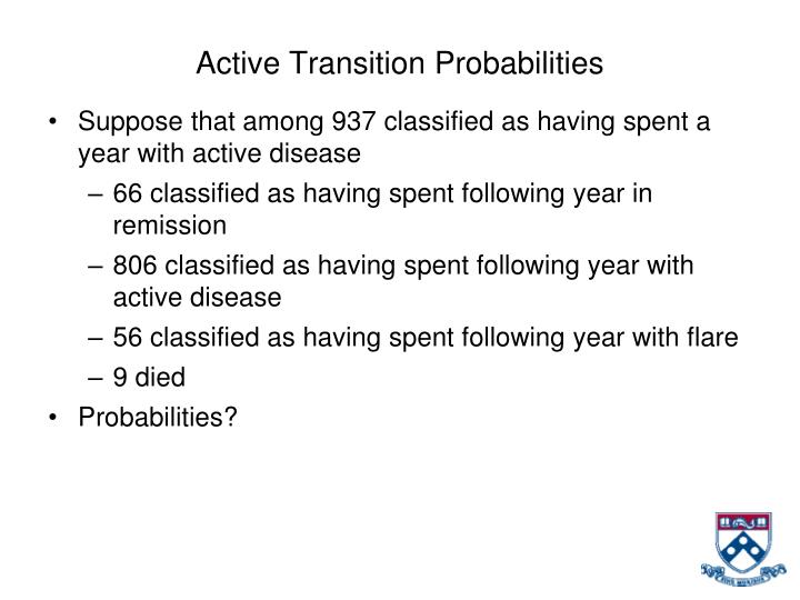 Active Transition Probabilities