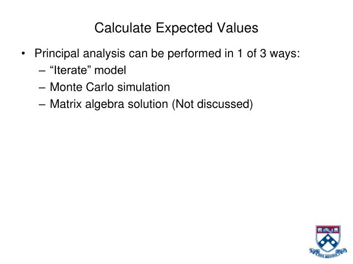 Calculate Expected Values