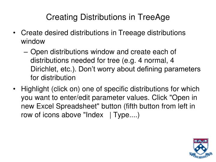 Creating Distributions in