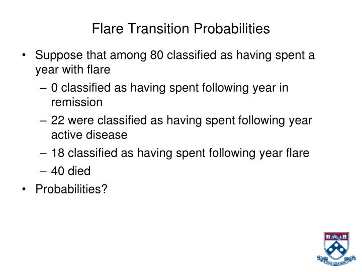Flare Transition Probabilities