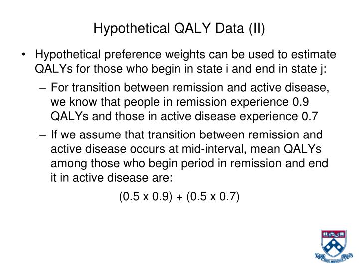 Hypothetical QALY Data (II)