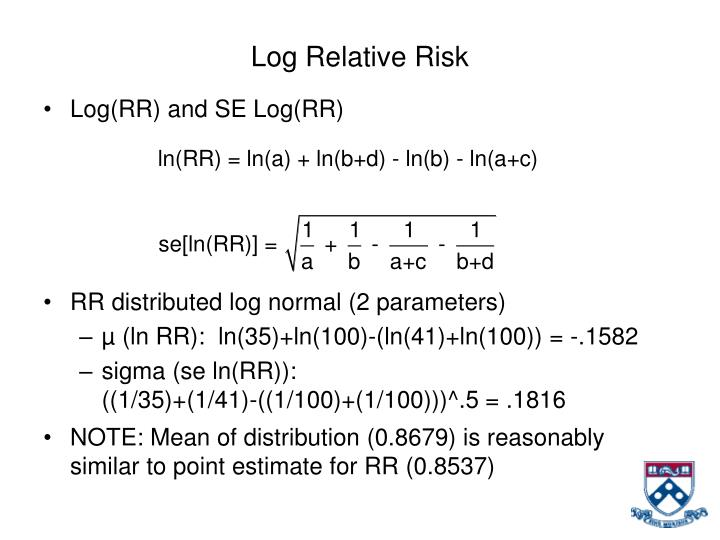 Log Relative Risk
