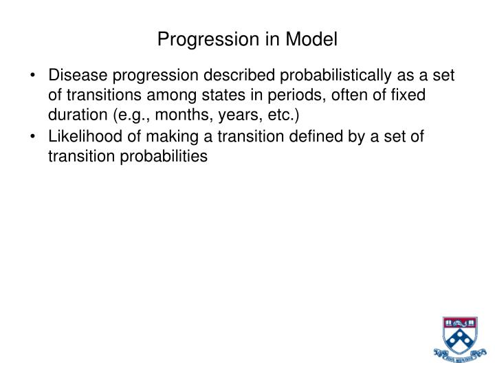 Progression in Model
