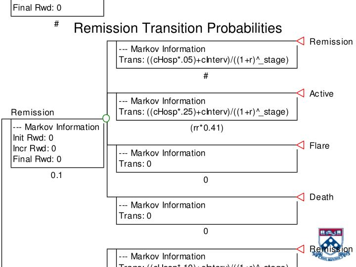 Remission Transition Probabilities