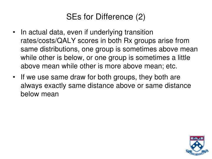 SEs for Difference (2)
