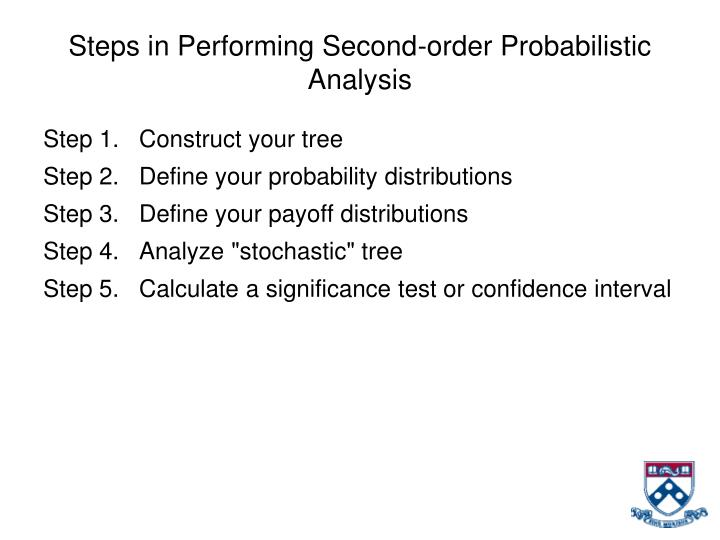 Steps in Performing Second-order Probabilistic Analysis