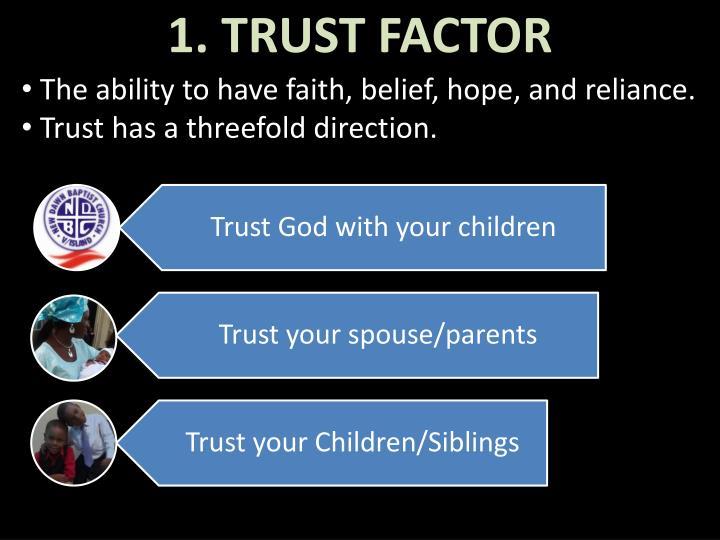 1. TRUST FACTOR