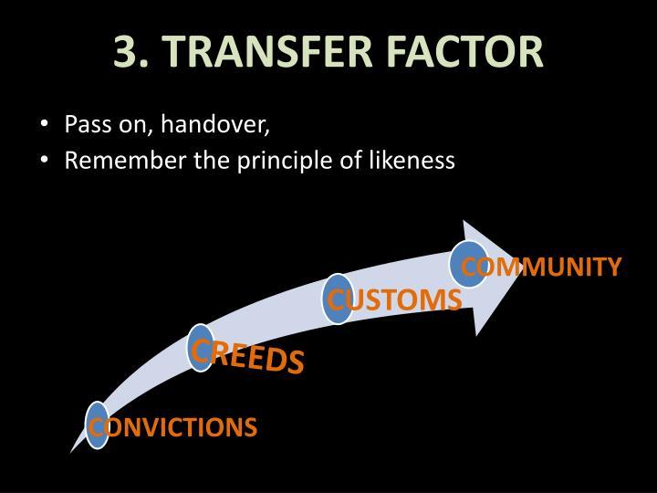 3. TRANSFER FACTOR