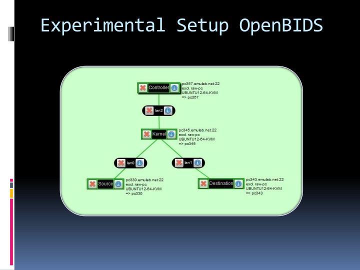 Experimental Setup OpenBIDS