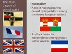 the main causes of world war i3