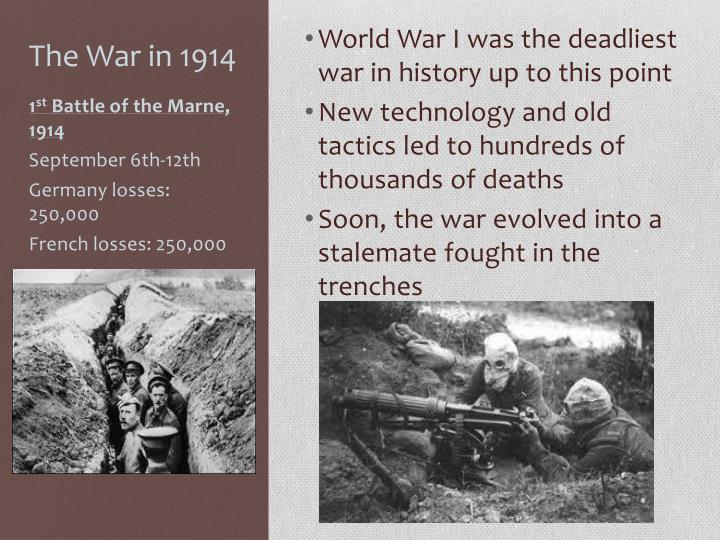 The War in 1914
