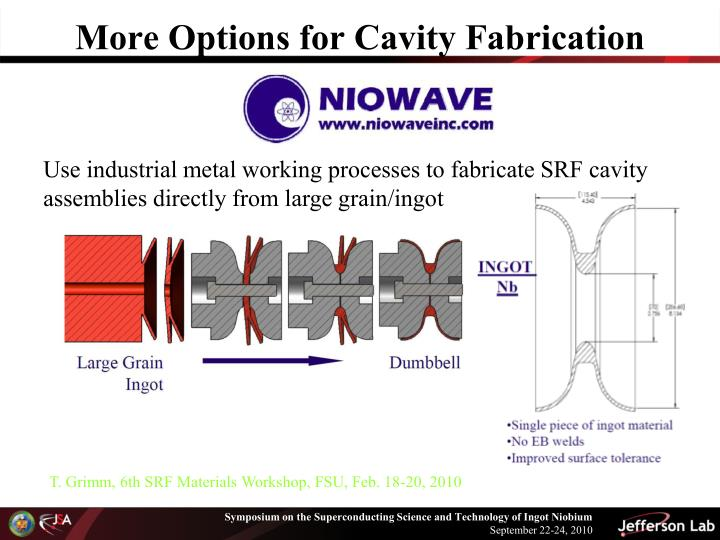 More Options for Cavity Fabrication