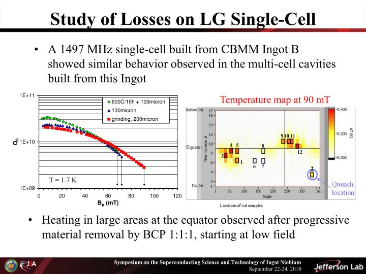 Study of Losses on LG Single-Cell
