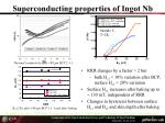 superconducting properties of ingot nb1