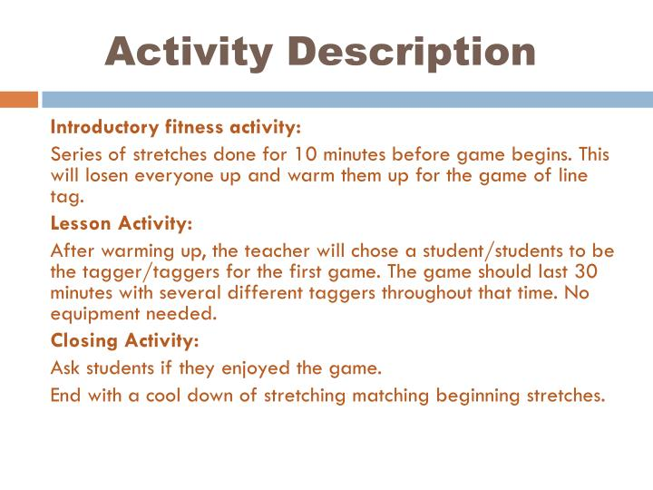 Activity Description