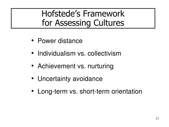 Hofstede's Framework
