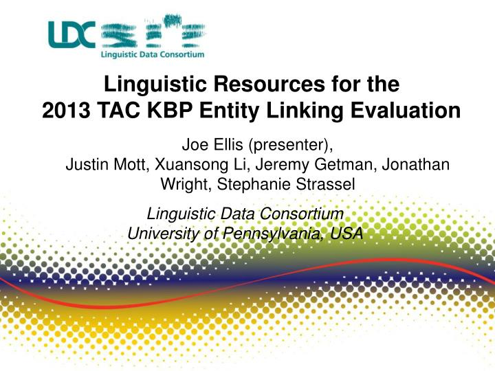 Linguistic Resources for