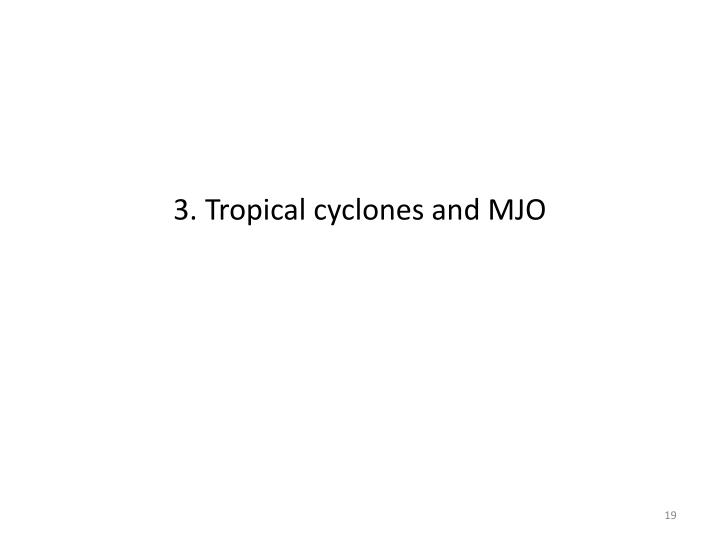 3. Tropical cyclones and MJO