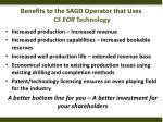 benefits to the sagd operator that uses c s eor technology