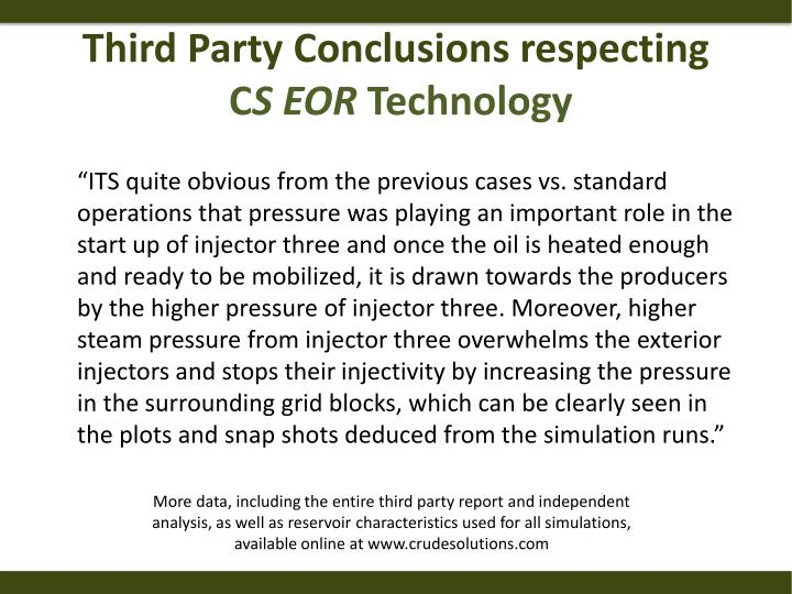 Third Party Conclusions respecting